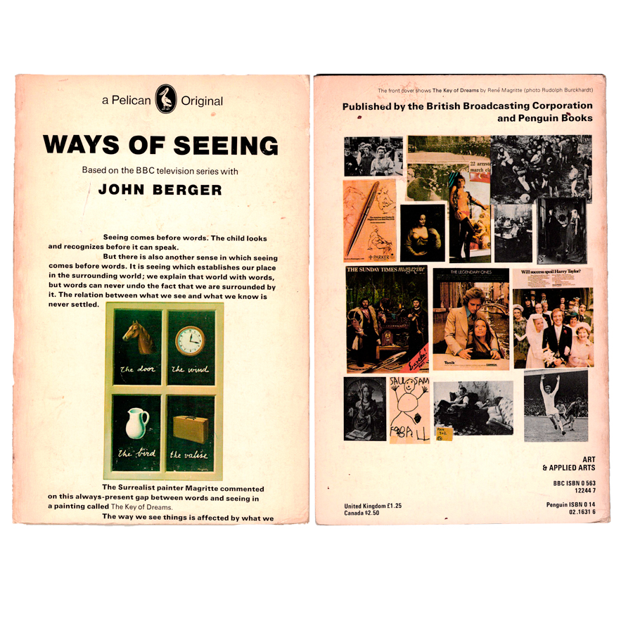 picture of front and back cover of Ways of seeing by John Berger